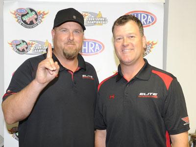 Jeg Coughlin Jr., right, and team owner Richard Freeman