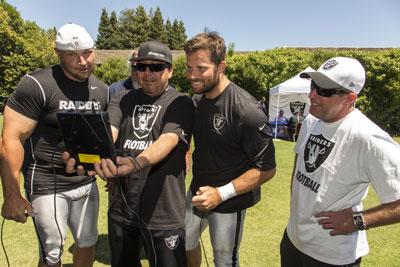 Janikowski, Pedregon, Raiders long snapper Jon Condo, and Johnson.