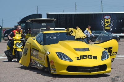 With temperatures approaching 90 degrees, JEGS.com Pro Mod driver Troy Coughlin Sr. raced to the second round of the 29th annual NHRA SpringNationals on Saturday at Royal Purple Raceway.