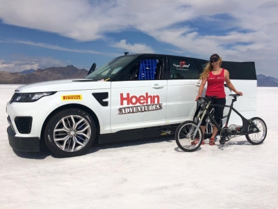 b3c52567679 Two Women Work Together for World Bicycle Speed Record Attempt, as ...
