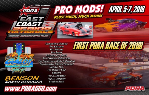 THIS WEEKEND! 2018 5th Annual PDRA East Coast Spring Nationals at