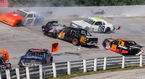 Spectacular Finish in 30th Halloween 200 at Salem