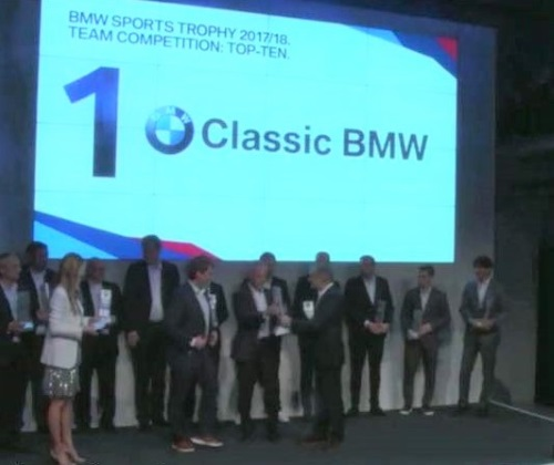 Classic BMW Wins BMW Sports Team Trophy 2018