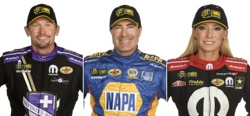 Jack Beckman, Ron Capps and Leah Pritchett