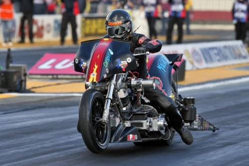 Magic Dry Top Fuel Harley piloted by Rickey House