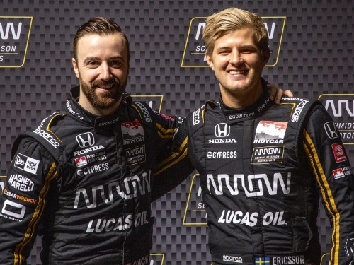 James Hinchcliffe and Marcus Ericsson